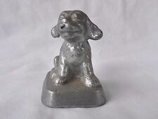 Art Deco Aluminum Miniature Jack Russell Puppy Dog Figurine