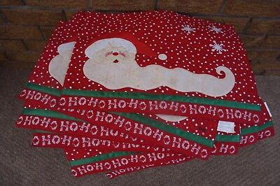 Christmas Xmas Table Runner Red Xia Fashions Santa Xmas Placemats Gold G