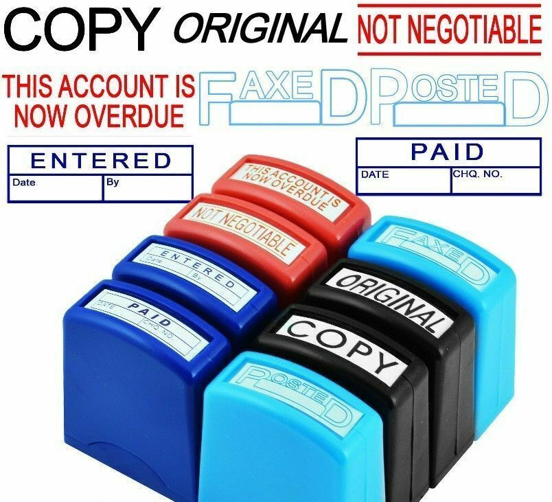Bad Debt Self-Inking Office Rubber Stamp
