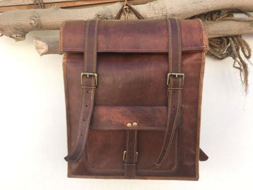 Tasche Vintage Rucksack Laptop Aktenkoffer Herrenleder Braun Satchel Echtes 6qFT1A