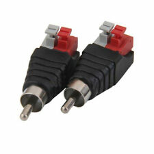 10PCS Speaker Wire Cable to Audio Male RCA Connector Adapter Jack Plug E7B