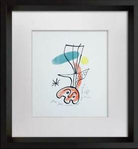 Joan MIRO Original Lithograph SIGNED & Inscribed L/E  + Cat. Ref. c56 w/FRAME