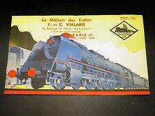 CATALOGUE Maison des Trains Vialard Le Rapide TRAINS ELECTRIQUES JOUETS 1937-38