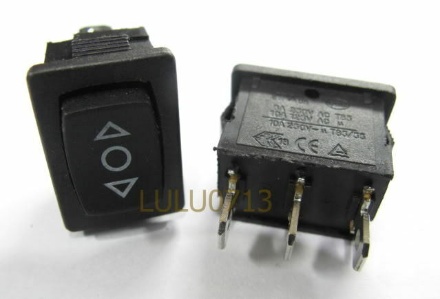 12x ON/OFF/ON Momentary Rocker Switch 12V △○▽ Diy Car Model Project 6A 250VAC