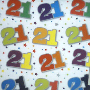 Image Is Loading 2 Sheets 21st Birthday Wrapping Paper Gift Wrap