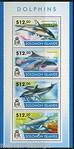 SOLOMON-ISLANDS-2015-DOLPHINS-SHEET-MINT-NH