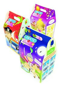 Details about Pirates & Princesses Cardboard Meal Lunch Box Catering  Birthday Party Bag Sets