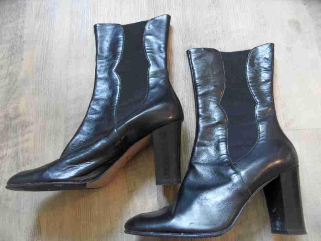 BELMONDO stylische stylische BELMONDO Schlupf Stiefeletten Leder schwarz schwarz 7821bd