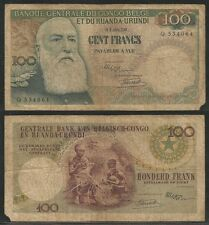 BELGIAN CONGO - 100 Francs 01.08.1956 Fine  Pick 33a
