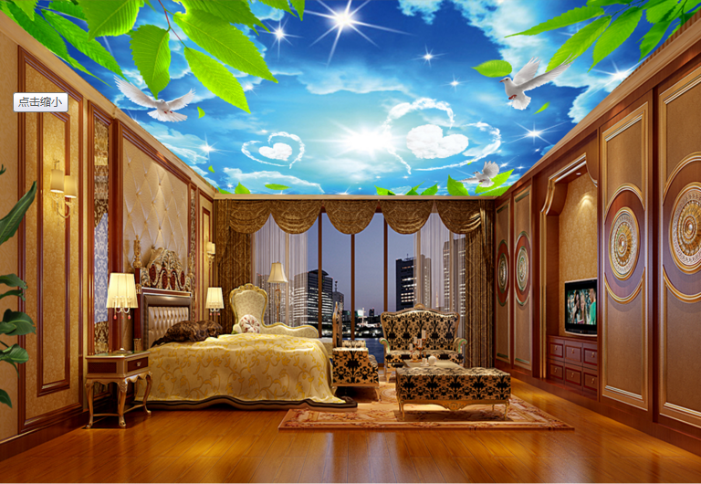 3D Art Sky 521 Ceiling WallPaper Murals Wall Print Decal Deco AJ WALLPAPER UK