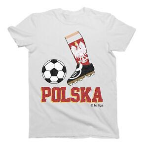 Kids WORLD CUP 2018 Football Boot T-Shirt POLSKA POLAND Childrens ... d383e63d89