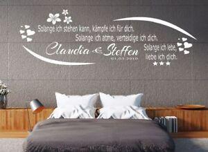 Wandtattoo Schlafzimmer Wohnzimmer Name Datum Spruch solange ich ...