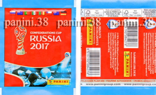 """packet Pochette 2 VERSIONS /""""CONFEDERATIONS CUP 2017/"""" bustina tüte PANINI"""