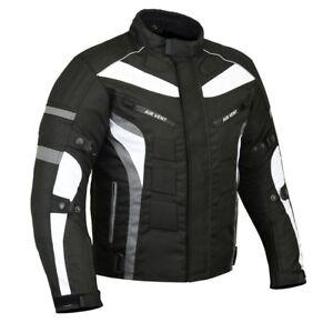 Motorrad-Jacke-Cordura-Motorradjacke-wasserdicht-M-5XL-GRAU-Cordura-600-D-TOP