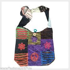Bunte Patchwork Umhängetasche Nepal Hippie Vintage Goa Peace Used Look Tasche