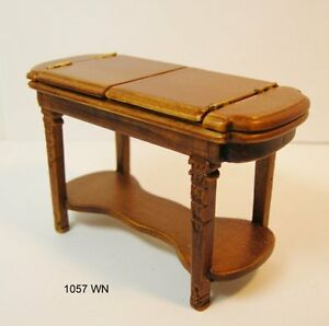 JBM MINIATURES DROP LEAF  TABLE WALNUT DOLLHOUSE FURNITURE  MINIATURES