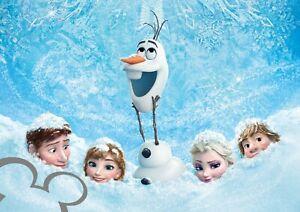 Frozen Elsa and Anna Art Poster A4