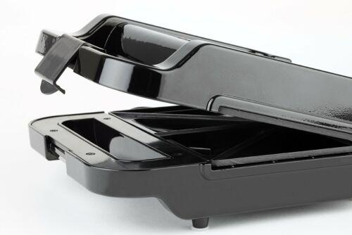 Korona 47014 Sandwichmaker schwarz rot 800 Watt 2 Toastplatten