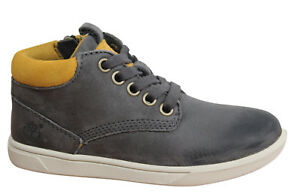 Timberland-Groveton-Leather-Chukka-Toddlers-Boots-Nubuck-Leather-Grey-A19T8-WH
