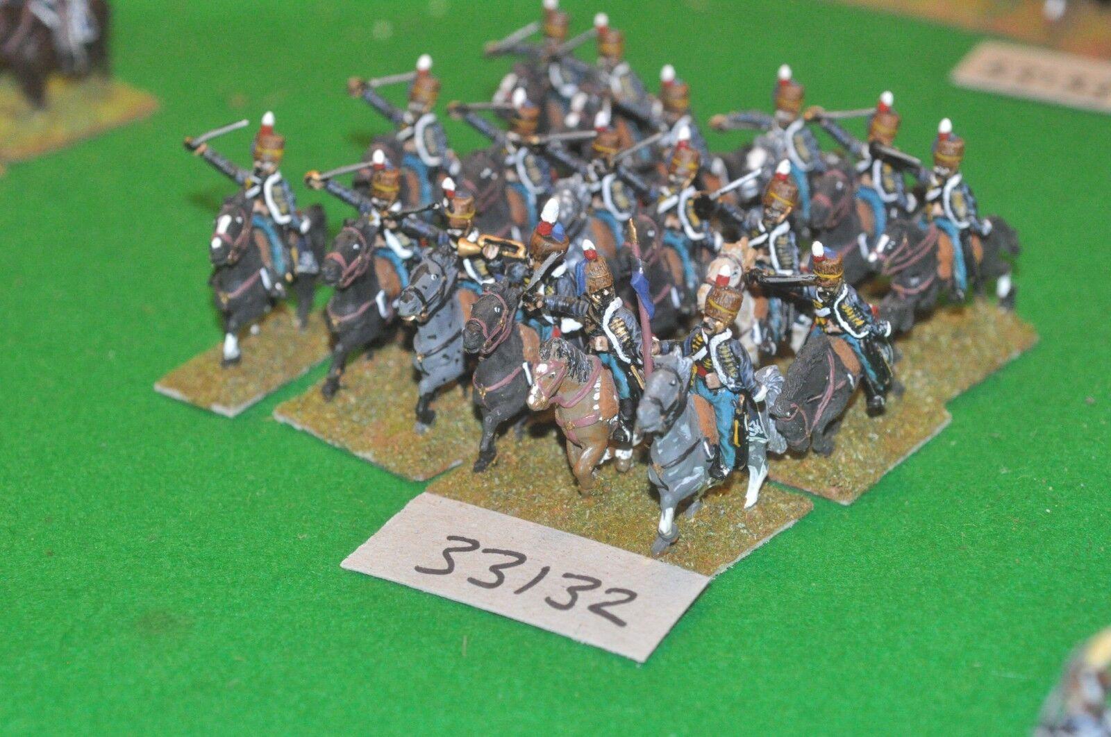 25mm napoleonic   british - hussars 18 figures - cav (33132)