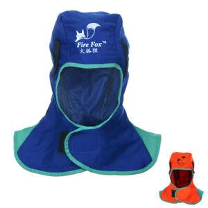 Flame Retardant Safety Helmet Welding Neck Protective Hood Welder Head Cap