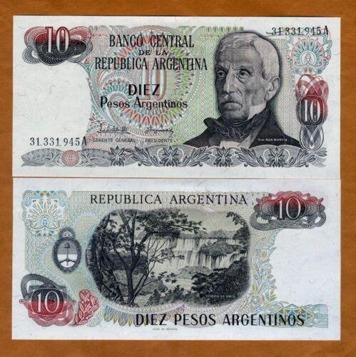 10 Pesos Argentinos, Argentina 1983-1985 P-313 UNC