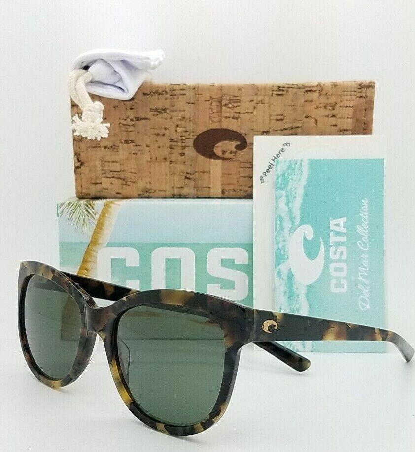 NEW Costa Bimini Sunglasses Shiny Vintage Tort Grey 580G AUTHENTIC Women's BIM