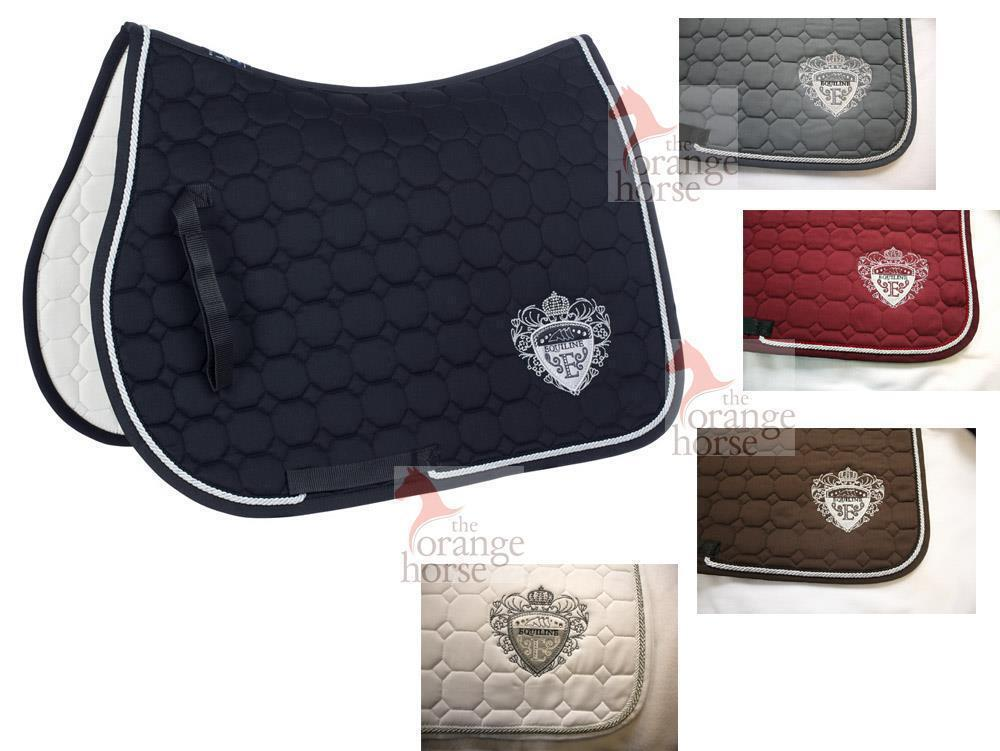 Equiline  saddle cloths octagon lux-gorgeous emblem  selling well all over the world