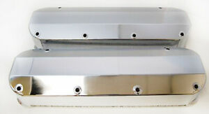 Big Block Ford Valve Covers 429-460 without Hole Chrome Aluminum Fabricated