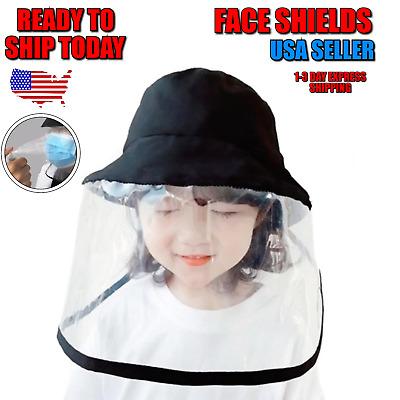 Kids face Sheild Chapeau Anti Splash spray protection sécurité clair Bouclier 1-3 jour S.