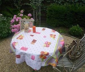 tischdecke provence 160 cm rund macarons aus frankreich pflegeleicht b gelfrei. Black Bedroom Furniture Sets. Home Design Ideas