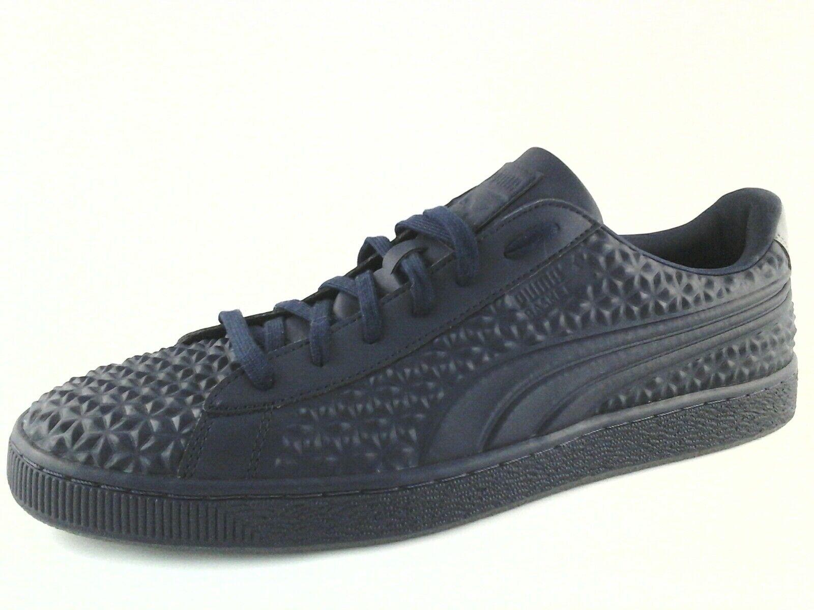 PUMA BASKET Sneakers Diamond STUD EMBOSSED Blue Casual Shoes US 13 EU 47 0 Scarpe classiche da uomo