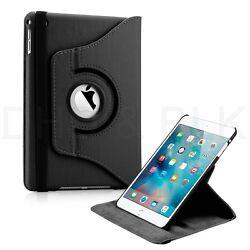 360 Rotating Leather Folio Case Cover Stand for iPad Mini 2 3 4 - Multiple Colors