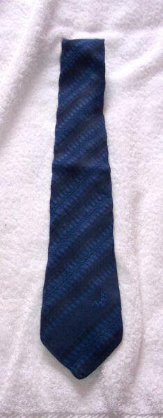 Vintage Empresa Tie-mb (las Iniciales?) Década De 1990-seda Azul-excelente-notas O Fotos-ver