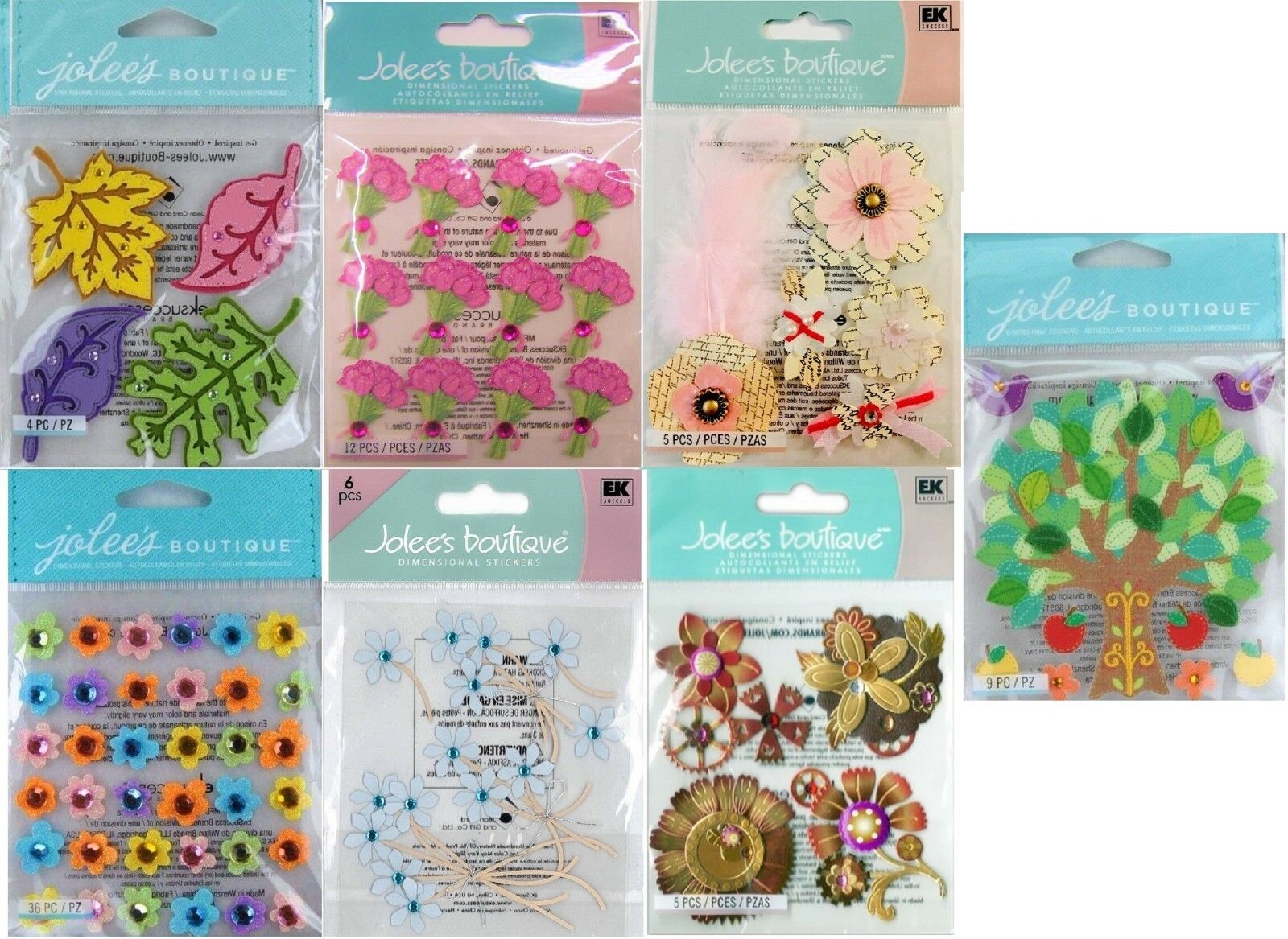 Jolee/'s BEAUTIFUL LILIES Boutique Stickers FLOWERS NEW