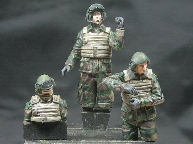Djiti's 1 35 French AFV Crew Soldiers (for VBCI & others) (3 Half-figures) 35053