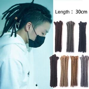 12-034-Afro-Handmade-Dreadlocks-Crochet-Braid-Dreads-Synthetic-Hair-Extensions
