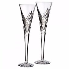 Waterford Artisan Engraved Toasting Flutes by Tom Brennan BRAND NEW IN BOX