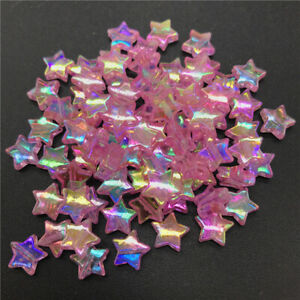 Lot of 5. Star beads alloy antique gold