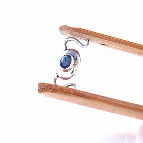 Azul zafiro gancho 15mm plata 925 cierre cadena pulsera Blue Sapphire video