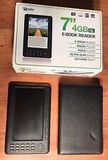 "Ematic RockChip RK2729 SDK 4GB Black E-book Reader 7"" Color Display"
