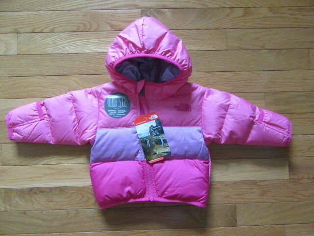 68fa9fe32 The North Face Reversible Moondoggy Down Jacket 3-6m Toddler Waterproof  Pink 550