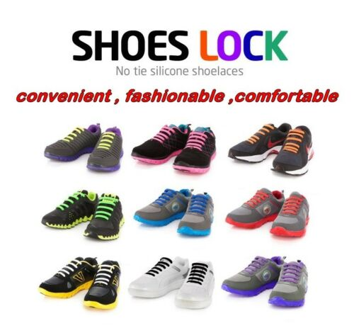 18pcs No Tie Elastic Silicone Shoelaces Shoes-Lock Sneakers Fashionable