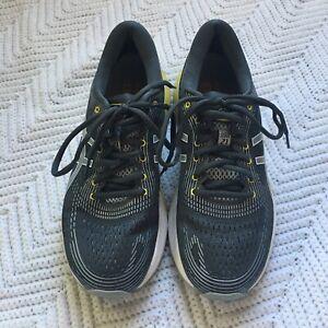 Asics-Gel-Nimbus-21-Women-039-s-Running-Shoes-8-5-EUC-Grey-Yellow-Black-EUC