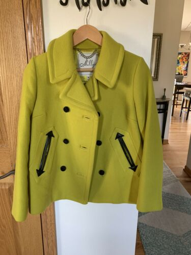 Gorgeous Neon green Milly Wool Coat