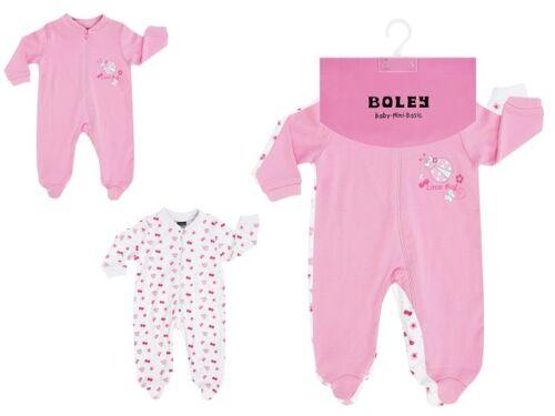 Jacky Baby 2er-Pack Schlafanzug Girl 1-tlg langarm rosa Gr 50//56-86//92