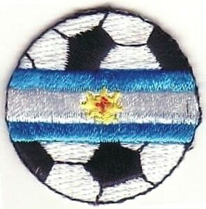 Soccer Ball Football Argentina Fútbol Bandera Flag Embroidered Patch