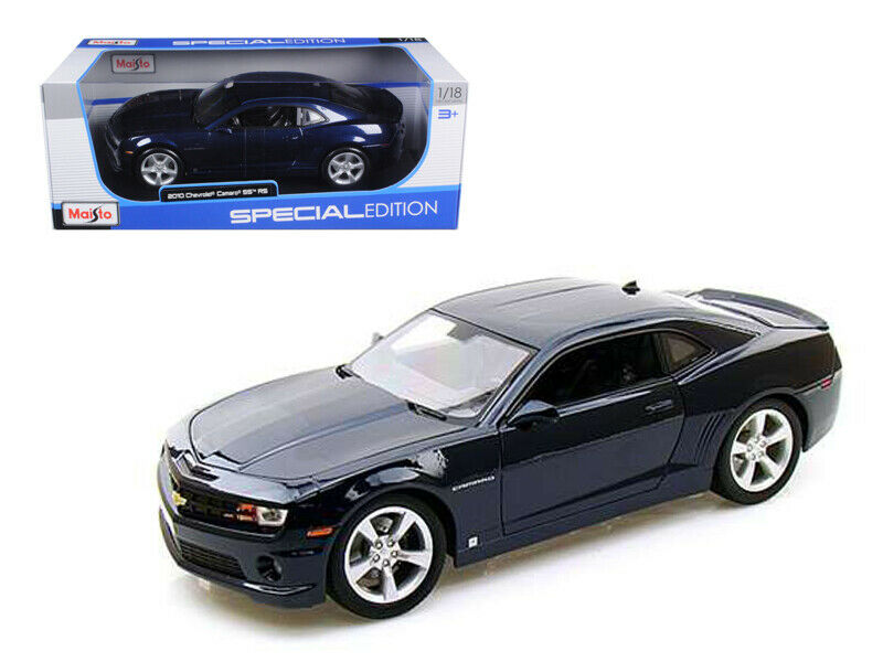 Maisto 1 18 2010 Chevrolet Camaro SS RS Diecast Model Car Dark bluee 31173