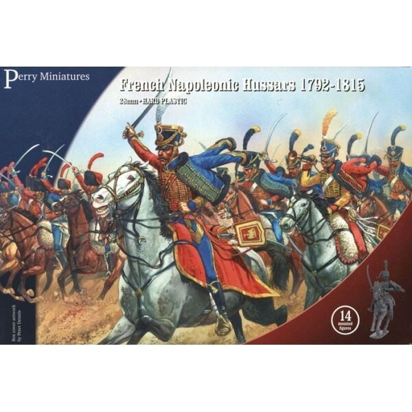 French Napoleonic Hussars – 28mm mounted figures x14 Perry FN140