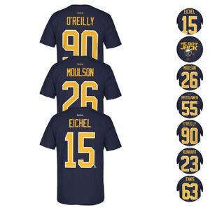 Buffalo Sabres NHL Reebok Player Name   Number Team Premier Jersey T ... 53fa8f454